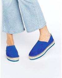 Miista - Blue Matilda Leather Espadrille Flats - Lyst