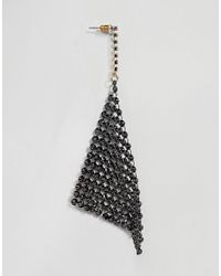 ASOS - Metallic Design Earrings In Ombre Crystal Chainmail Design - Lyst
