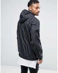 Abuze London - Black Half Zip Pullover Jacket for Men - Lyst