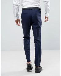 HUGO - Blue By Boss Hesten Extra Slim Fit Wool Twill Suit Pants for Men - Lyst