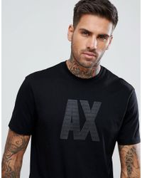Armani Exchange - Rubberised Ax Logo In Black for Men - Lyst