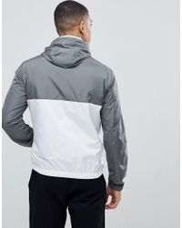 Emporio Armani - Nylon Hooded Jacket In Gray for Men - Lyst