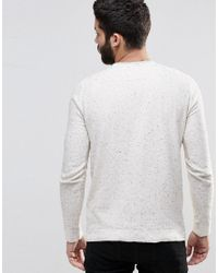 Only & Sons - White Knitted Jumper With Fleck for Men - Lyst