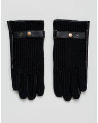 ASOS DESIGN - Asos Leather Driving Gloves In Black for Men - Lyst