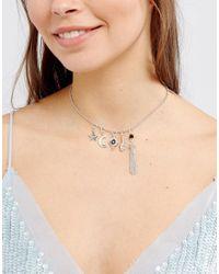 ASOS | Metallic Interchangeable Charm Necklace | Lyst