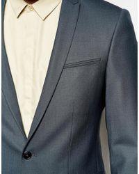 Noak | Gray Suit Jacket With Peak Lapel In Super Skinny Fit for Men | Lyst