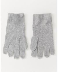 Tommy Hilfiger - Gray Gants en coton pima et cachemire for Men - Lyst