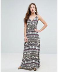 Vero Moda | Multicolor Super Easy Printed Maxi Dress | Lyst