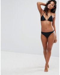 Boohoo - Black Mix And Match Gathered Bikini Thong - Lyst