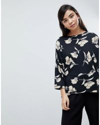 Soaked In Luxury - Multicolor Floral Oversize Sweater - Lyst