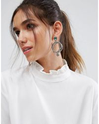 ALDO - Metallic Crareven Snake Hoop Earrings - Lyst