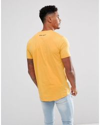 11 Degrees - Muscle T-shirt In Yellow for Men - Lyst