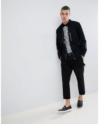 River Island Slim Fit Polo In Black for men