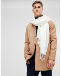 ASOS - Natural Blanket Scarf In Cream for Men - Lyst