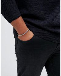 ASOS - Metallic Plus Mesh Chain Bracelet Pack In Burnished Gold And Silver for Men - Lyst