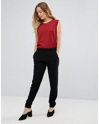 French Connection - Black Emma Crepe Joggers - Lyst