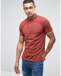 Jack & Jones - Red Vintage Slim Fit Polo Shirt for Men - Lyst