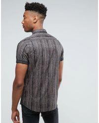 ASOS - Black Design Tall Regular Fit Vintage Print Shirt for Men - Lyst