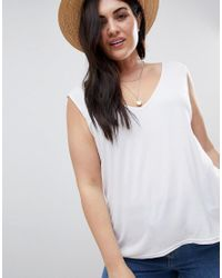 Boohoo - Basic Tank Top In White - Lyst