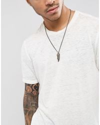 Seven London - Metallic Tooth Pendant Necklace With Chain Exclusive To Asos for Men - Lyst