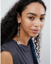ASOS Multicolor Design Coin Strand Earrings