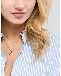Orelia - Metallic Gold Plated Dolphin Pendant Necklace - Lyst