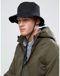 ASOS - Fisherman Bucket Hat In Black for Men - Lyst