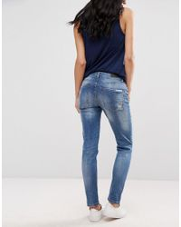 Blend She - Blue Casual Kay Straight Jeans - Lyst