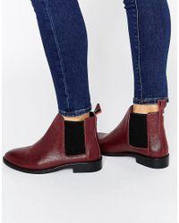 Faith - Purple Binkie Oxblood Leather Chelsea Boots - Lyst