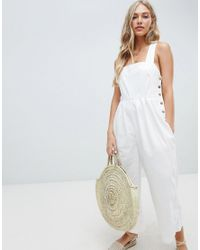 Free People - White Fara Cotton Jumpsuit - Lyst