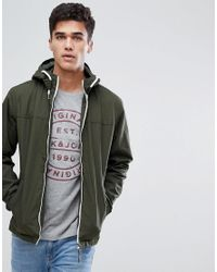 Jack & Jones - Green Originals Lightweight Hooded Jacket With Contrast Zip for Men - Lyst