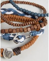 Icon Brand - Multicolor Nautical Bracelet Pack for Men - Lyst