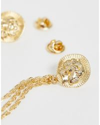 ASOS Metallic Stamped Coin Inspired Collar Tips for men