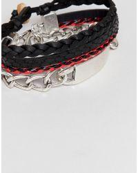 Stradivarius - Metallic Bracelet 3 Pack for Men - Lyst