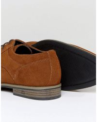 River Island - Brown Suede Derby Shoes In Tan for Men - Lyst