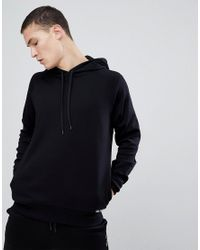 HUGO - Exploded Logo Hoodie Sweat In Black for Men - Lyst