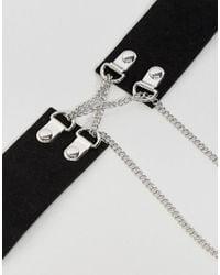 River Island | Black Chain Corset Necklace | Lyst