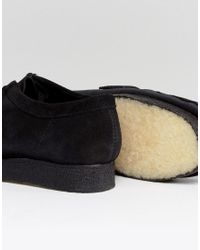 Clarks - Black Wallabee Suede Shoes for Men - Lyst