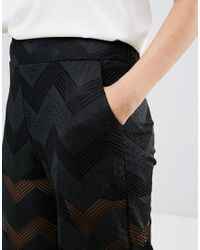Lavand - Black Sheer Chevron Trosuers - Lyst