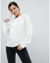 ASOS - Gray Asos Jumper With Ruffle Detail - Lyst