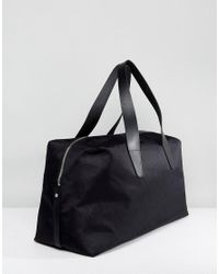 Pretty Green - Nylon Jaquard Holdall In Black for Men - Lyst