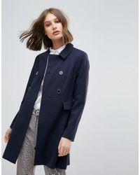 Oasis - Blue Swing Coat - Lyst