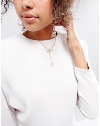 ASOS - Metallic Toggle Chain Necklace - Lyst