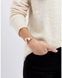 ASOS - Metallic Statement Ball Detail Cuff Bracelet - Lyst