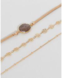 ALDO   Metallic Faycien Layered Choker Necklace   Lyst
