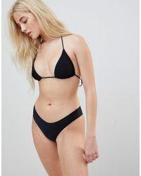 Rip Curl - Black Rip Curl Classic Surf Moulded Bikini Top - Lyst