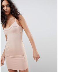 ASOS - Pink Asos Mini Seam Detail Cami Bodycon Dress - Lyst