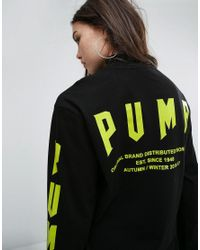 PUMA | Exclusive To Asos Oversized Long Sleeve T-shirt In Black | Lyst