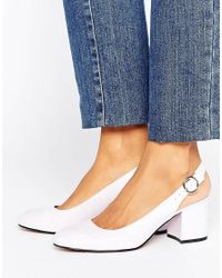 London Rebel - Purple Slingback Heeled Shoe - Lyst