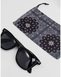 ASOS - 2 Pack Square & Retro Sunglasses In Black Save for Men - Lyst